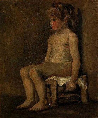 Nude Study of a Little Girl, Seated by Vincent van Gogh