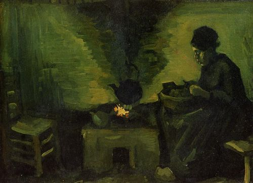 Peasant Woman by the Fireplace by Vincent van Gogh