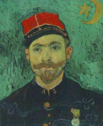 Portrait of Milliet, Second Lieutanant of the Zouaves by Vincent van Gogh