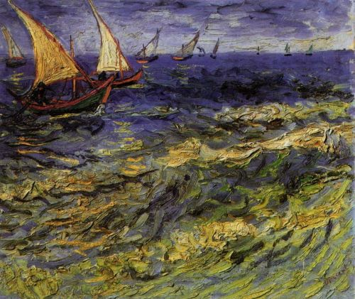 Seascape at Saintes-Maries by Vincent van Gogh
