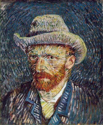 Self Portrait with Grey Felt Hat by Vincent van Gogh
