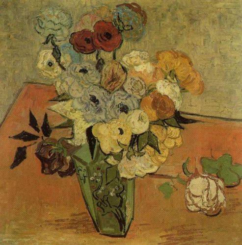 Still Life: Vase with Roses and Anemones by Vincent van Gogh