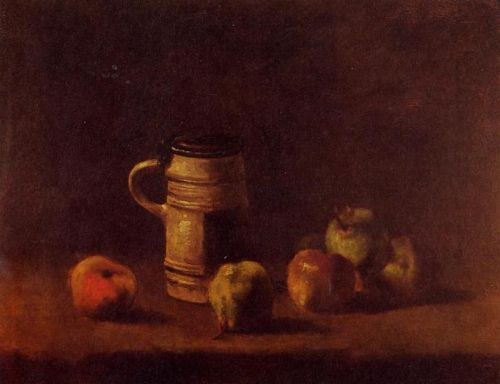 Still Life with Beer Mug and Fruit by Vincent van Gogh