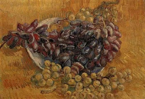 Still Life with Grapes by Vincent van Gogh