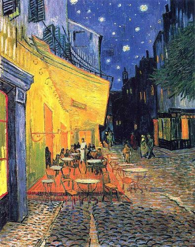 The Cafe Terrace on the Place du Forum, Arles at Night, 1888 by Vincent van Gogh