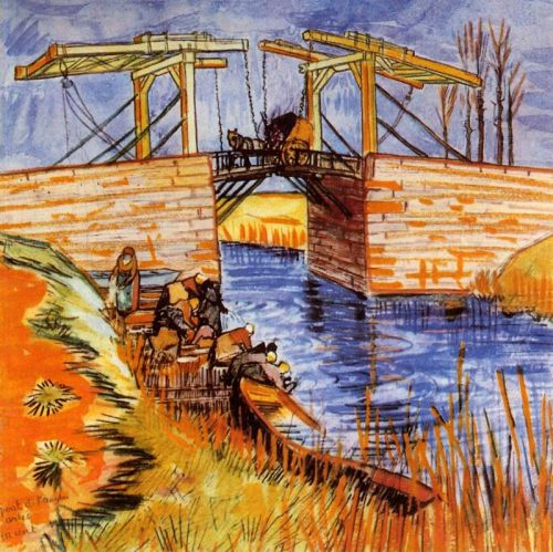 The Langlois Bridge at Arles by Vincent van Gogh