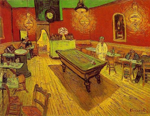The Night Cafe in the Place Lamartine in Arles by Vincent van Gogh