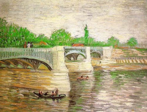 The Seine with the Pont de Clichy by Vincent van Gogh