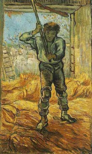 The Thresher by Vincent van Gogh