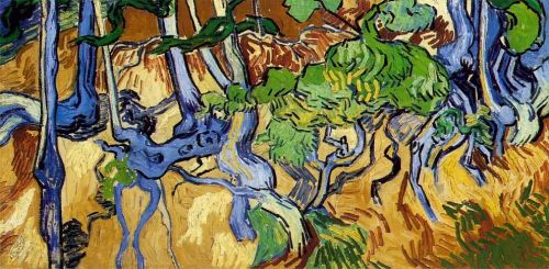 Tree Roots and Trunks by Vincent van Gogh