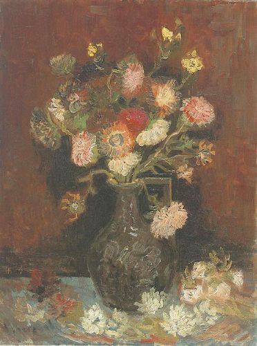 Vase with Asters and Phlox by Vincent van Gogh
