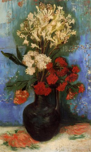 Vase with Carnations and Other Flowers by Vincent van Gogh