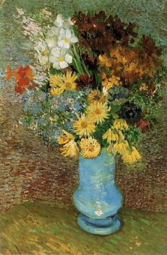 Vase with Daisies and Anemones by Vincent van Gogh