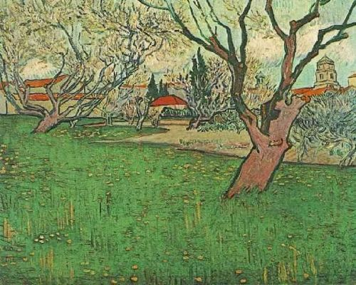 View of Arles with Tress in Blossom by Vincent van Gogh
