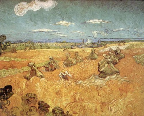 Wheat Stacks with Reaper by Vincent van Gogh