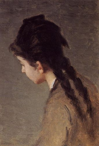 Portrait of Jeanne Gonzales in Profile by Eva Gonzales