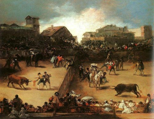 Bullfight in a Divided Ring by Francisco Goya