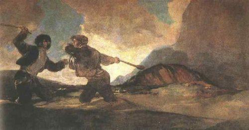 Duel with Clubs by Francisco Goya
