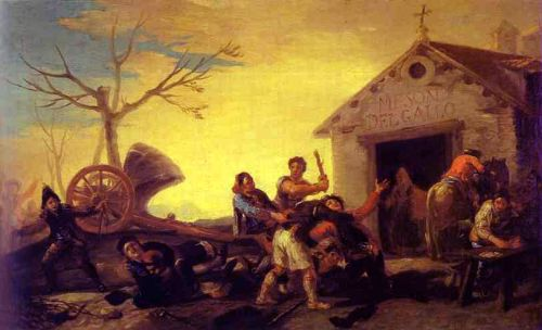 Fight at the Cock Inn by Francisco Goya