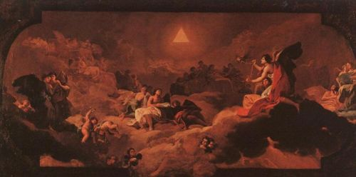 The Adoration of the Name of The Lord by Francisco Goya