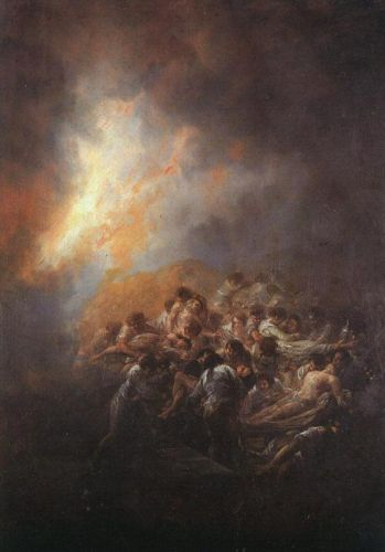 The Fire by Francisco Goya