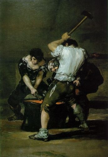 The Forge by Francisco Goya