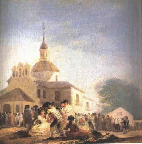 The Hermitage of San Isidro by Francisco Goya