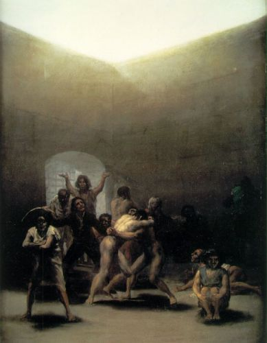 Yard with Lunatics by Francisco Goya