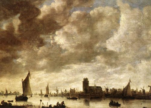 View of the Merwede before Dordrecht by Jan van Goyen
