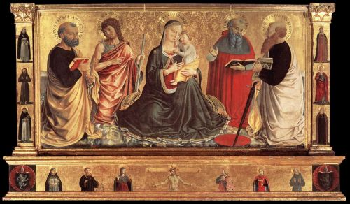 Madonna and Child with Saints John the Baptist, Peter, Jerome and Paul by Benozzo Gozzoli