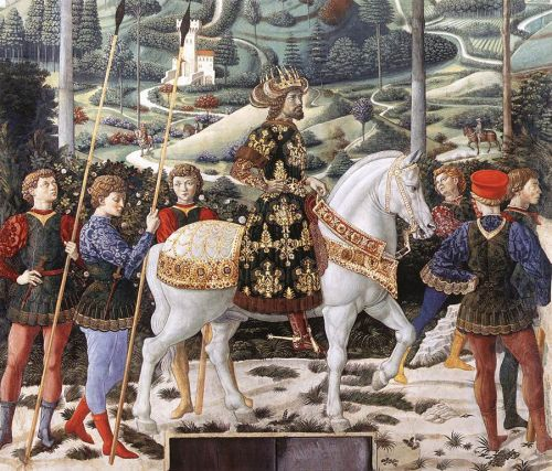 Procession of the Middle King by Benozzo Gozzoli