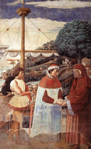 St Augustine Cycle: Disembarkation at Ostia by Benozzo Gozzoli