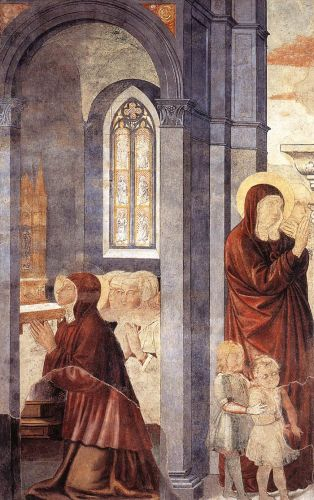 St Augustine Cycle: Leaving his Mother by Benozzo Gozzoli