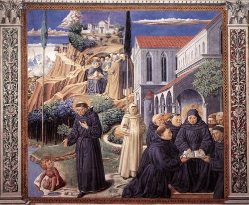 St Augustine Cycle: The Parable of the Holy Trinity by Benozzo Gozzoli