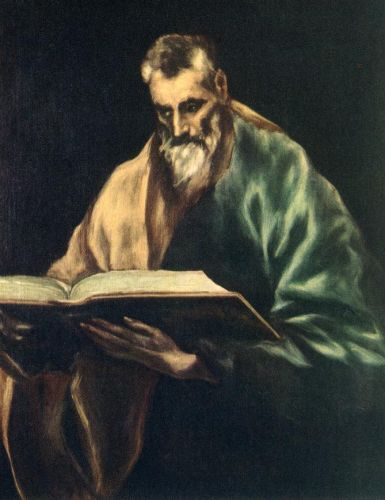 Apostle St Simon by El Greco