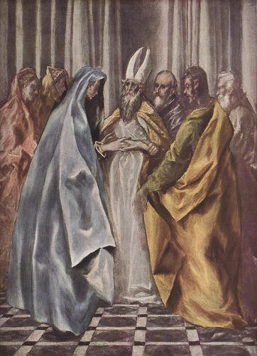 Betrothal of the Virgin by El Greco