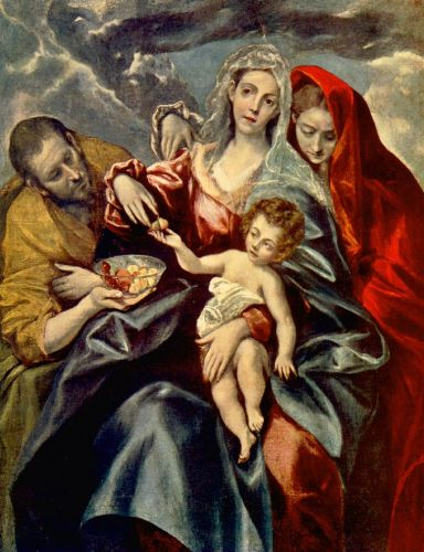 Holy Family by El Greco