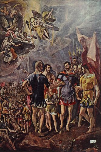 Martyrdom of St Maurice and his Legions by El Greco