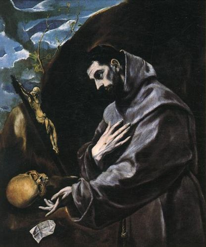 St Francis Praying by El Greco