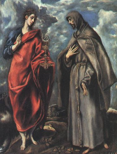 St John the Evangelist and St Francis by El Greco