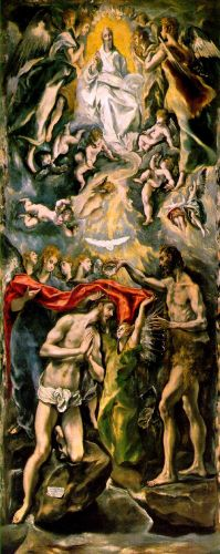 The Baptism by El Greco