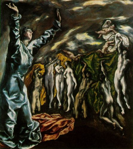 The Opening of the Fifth Seal of the Apocalypse by El Greco