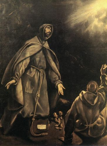 The Stigmatization of St Francis by El Greco