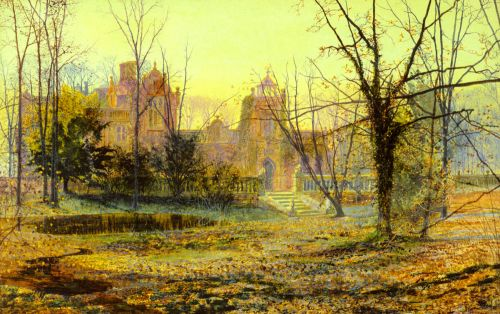 Evening, Knostrop Old Hall by John Atkinson Grimshaw