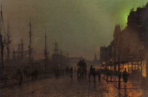 Gourock, Near The Clyde Shipping Docks by John Atkinson Grimshaw
