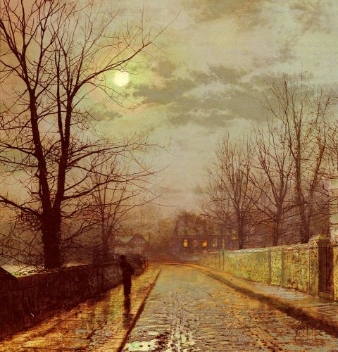 Lane In Cheshire by John Atkinson Grimshaw