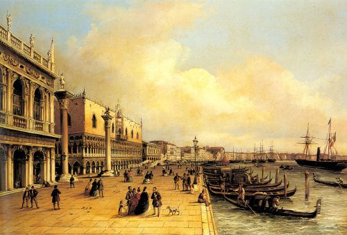 A View of the Doges Palace by Carlo Grubacs
