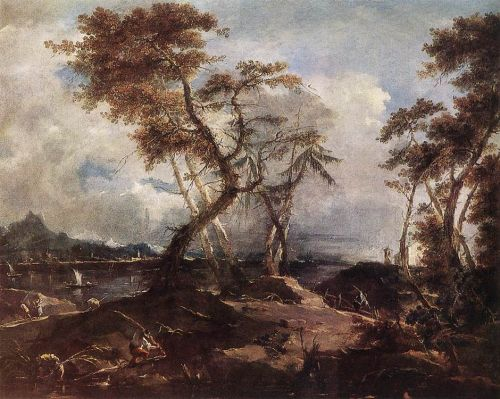 Landscape by Francesco Lazzaro Guardi