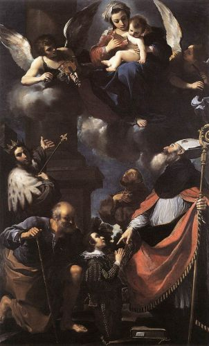 A Donor Presented to the Virgin by Giovanni Francesco Barbieri Guercino