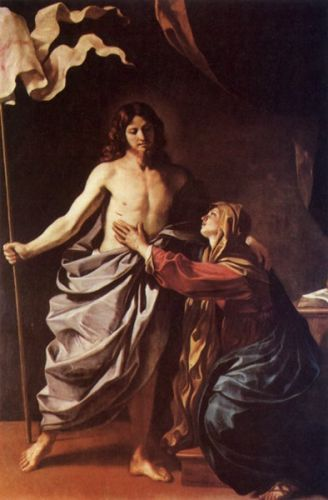Apparition of Christ to the Virgin by Giovanni Francesco Barbieri Guercino